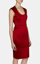 New KAREN MILLEN Red BNWT £170 Satin Party Evening Cocktail Dress UK 12 14