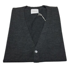 BELLWOOD vest man grey with button art 327M0008 100%merino wool MADE IN ITALY
