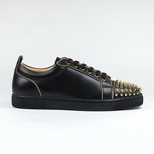 100% Authentic Mens Christian Louboutin Louis Junior Spikes Anthony Flat Calf