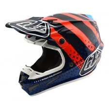 Troy Lee 2018 adulti SE4 CARBON Motocross MX Off Road Casco 2018 - Navy/Arancio