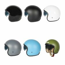 Spada Raze Open Face EC2205 Approved Plain Motorcycle / Bike Helmet