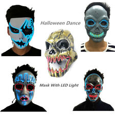 Mask With LED Light For Party Halloween Dance Birthday Party Carnival IB