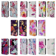 GIULIO ROSSI FLORAL COLLECTION LEATHER BOOK WALLET CASE FOR APPLE iPOD TOUCH MP3