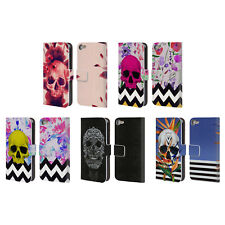 GIULIO ROSSI SKULL COLLECTION LEATHER BOOK WALLET CASE FOR APPLE iPOD TOUCH MP3