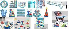 All Aboard 1st Boy's  Birthday Party Tableware decoration, plates,napkins,cups