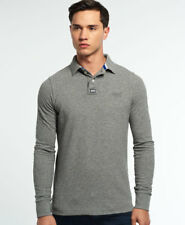 New Mens Superdry Classic Pique Polo Shirt Quarry Grey Grindle