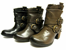 "femmes HUSH PUPPIES Cuir COW-BOY Style bottines 3 "" talon style Moorland Ank"