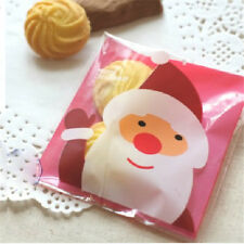 100~500pcs Christmas Santa Cellophane Party Treat Candy Biscuits Gift Bags