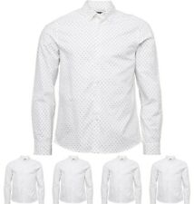 FASHION Peter Werth Mens Thornhill Pattern Shirt White Small Chest 35-37""