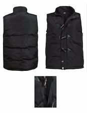 Mens Padded Jacket Bodywarmer Toggle Button Sleeveless Quilted Warm Gilet