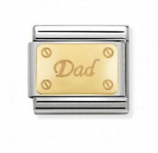Nomination Italy Nominations Gold Messages Family Dad Charm