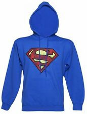 Official Blue Distressed Superman Logo Hoodie