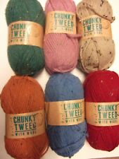 5 x 100g Hayfield Chunky Tweed with Wool Wool/Yarn for Knitting/Crochet