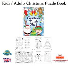 KIDS CHRISTMAS PUZZLE BOOK Stocking Filler Party Bag Filler Kids Gift Toy Game