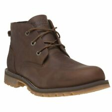 New Mens Timberland Brown Larchmont Wp Chukka Leather Boots Lace Up