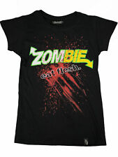 Darkside Damen Girlie T-Shirt Zombie Eat Flesh Splatter Horror Halloween #5014