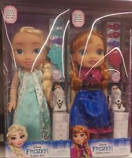 NEW Frozen Toddler Dolls Elsa and Anna with Olaf, Hair Brush & Accessories *HOT*