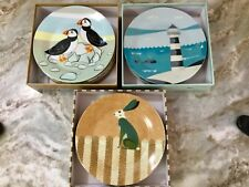 Magpie Side Plates Wildlife, Coast Or Ahoy. Vegan Friendly. Your Choice. New.