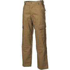 MFH ACU Trousers Ripstop Mens Combat Cargo Military Army Airsoft Pant Coyote Tan