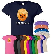 pumpkin donald halloween womens t shirt funny trumpkin. Black Bedroom Furniture Sets. Home Design Ideas