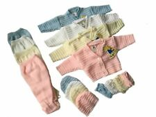 BABY GIRLS & BOYS 4 PIECE GIFT SET CARDIGAN, TROUSER, HAT & MITTEN
