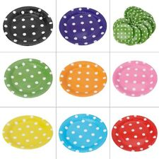 10Pcs/Bag Disposable Round Paper Plates Dishes Birthday Wedding Party Tableware