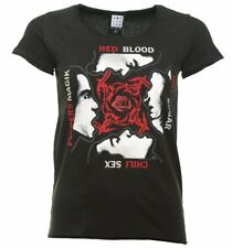 Official Women's Charcoal Red Hot Chili Peppers Blood Sugar Sex Magik T-Shirt fr