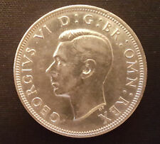 Half Crown Coin King George VI British English London Silver Royal Mint Family