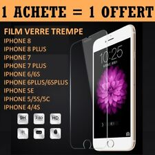 IPHONE 4/5/6/7/8/S/SE/PLUS FILM ECRAN PROTECTEUR VITRE PROTECTION VERRE TREMPE
