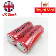 1/2/4Pcs 26650 3.7v 6000mah Rechargeable Li-ion Battery for Flashlight Torch UK