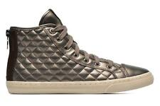 Donna Geox D New Club A D4258a Sneakers Oro E Bronzo