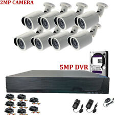 CCTV 8CH Full HD 1080P DVR 2.4MP Night Vision Wide angle Camera Home System Kit
