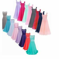 Flower Girls Dress Bridesmaid Party Princess Prom Wedding Formal Gown Dresses