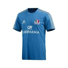 Adidas FIR Italia t-shirt Uomo Rugby Performance Mens Italy Tee Shirt Jersey W68
