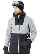 WearColour Grey Melange Block Snowboarding Jacket