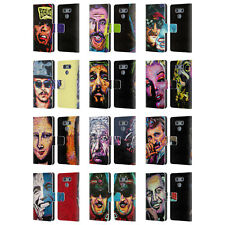 OFFICIAL ROCK DEMARCO ICONIC LEATHER BOOK WALLET CASE COVER FOR LG PHONES 1
