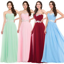 Women's Elegant Evening Bridesmaid Formal Dress Ball Long Wedding Party Gowns