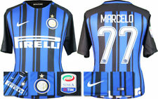 17 / 18 NIKE; INTER MILAN HOME SHIRT SS + SERIE A BADGE / MARCELO 77 = ADULTS