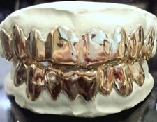 10K 14K Solid White Gold Custom fit Plain REAL Gold Grill Grillz Gold Teeth