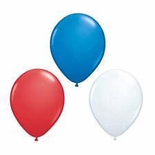 "12"" Street Party France French Football Red White Blue Latex Balloons BALOONS"