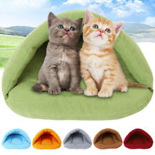 Winter Pet Dog Cat Nest Bed Puppy Soft Warm Cave House Sleeping Bag Mat Pad Cozy