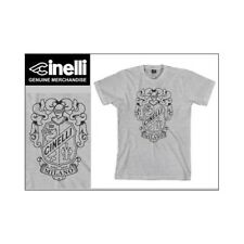 Cinelli Crest Grey Fixie Bike Cycle Cycling T-shirt