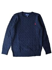 Genuine Boys Ralph Lauren Polo Cable Knit Cotton sweater Jumper age 3 - 16 gift