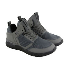Supra Method Mens Gray Mesh Athletic Lace Up Training Shoes