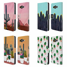 HEAD CASE DESIGNS CACTUS PRINTS LEATHER BOOK WALLET CASE FOR SAMSUNG PHONES 2