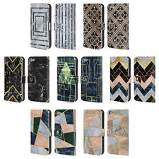 HEAD CASE DESIGNS GEOMETRIC MARBLE LEATHER BOOK CASE FOR APPLE iPOD TOUCH MP3