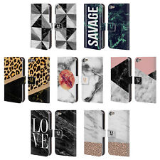 HEAD CASE DESIGNS MARBLE TREND MIX LEATHER BOOK CASE FOR APPLE iPOD TOUCH MP3