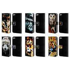 HEAD CASE DESIGNS WILDFIRE LEATHER BOOK WALLET CASE FOR APPLE iPOD TOUCH MP3