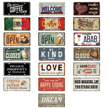 Shabby Chic Tin Metal Sign Plaques Wall Decor Posters Home Cafe Club Art Taverns