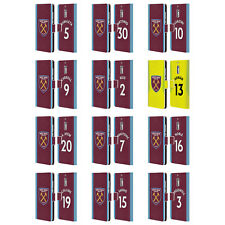 WEST HAM UNITED FC 2017/18 HOME KIT 1 LEATHER BOOK CASE FOR MICROSOFT PHONES